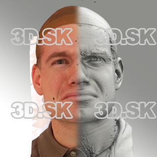 3D head scan of angry emotion - Petr