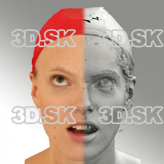 3D head scan of looking up emotion - Dana