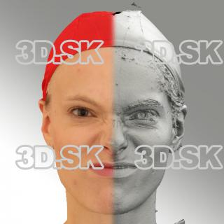 3D head scan of angry emotion - Dana