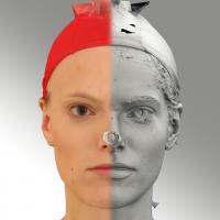 3D head scan of neutral emotion - Dana