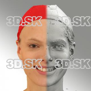 3D head scan of smiling emotion - Dana