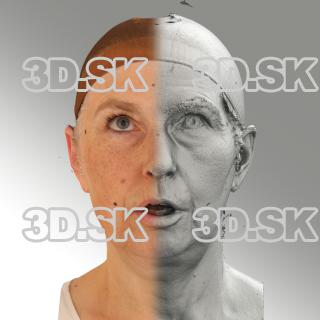3D head scan of looking up emotion - Eva