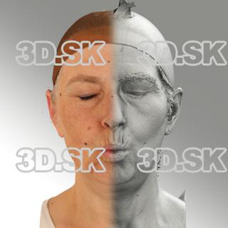 3D head scan of O phoneme - Eva