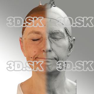 3D head scan of sneer emotion right - Eva