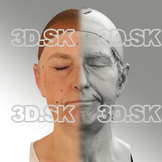 3D head scan of sneer emotion left - Eva