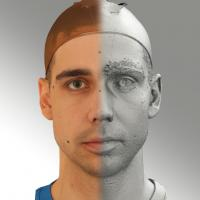 3D head scan of neutral emotion - Jiri