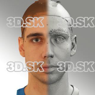 3D head scan of neutral emotion - Jiri