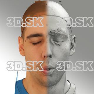 3D head scan of O phoneme - Jiri