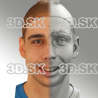 3D head scan of smiling emotion - Jiri