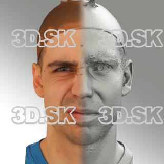 3D head scan of angry emotion - Jiri
