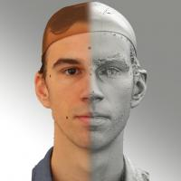 3D head scan of neutral emotion - Kuba