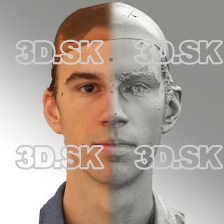 3D head scan of neutral emotion - Kuba