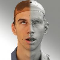 3D head scan of looking up emotion - Kuba