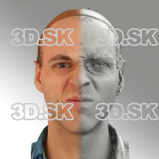 3D head scan of angry emotion - Lukas