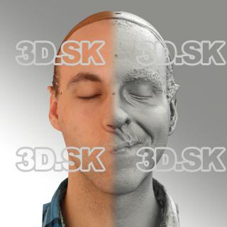 3D head scan of sneer emotion left - Lukas