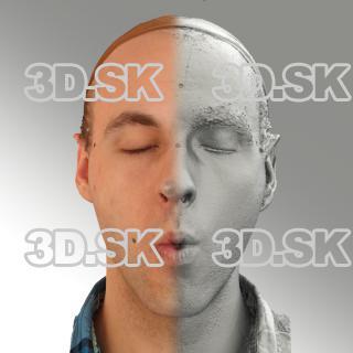 3D head scan of O phoneme - Lukas