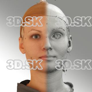 3D head scan of neutral emotion - Iva
