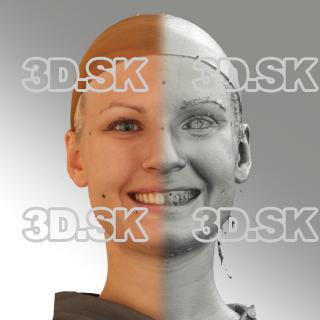 3D head scan of smiling emotion - Iva