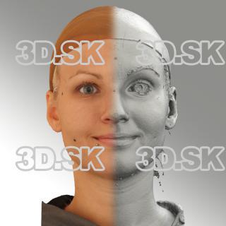 3D head scan of natural smiling emotion - Iva