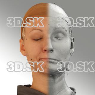 3D head scan of sneer emotion left - Iva
