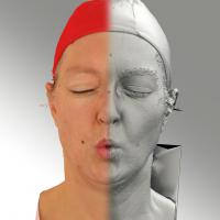 3D head scan of O phoneme - Daniela