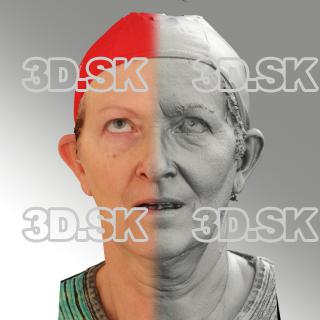 3D head scan of looking up emotion - Marie