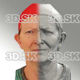 3D head scan of angry emotion - Maria
