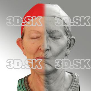 3D head scan of sneer emotion right - Maria
