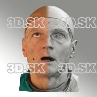 3D head scan of looking up emotion - Zdenek