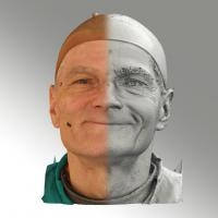 3D head scan of natural smiling emotion - Zdenek