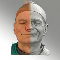 3D head scan of sneer emotion left - Zdenek