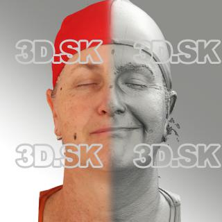 3D head scan of sneer emotion left - Jana