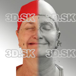 3D head scan of sneer emotion right - Jana