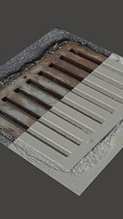 RAW 3D scan of manhole cover #4