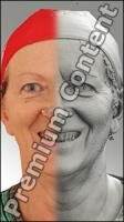 3D head scan of emotions and phonemes - Marie