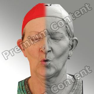 3D head scan of O phoneme - Maria