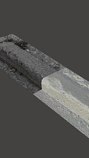 RAW 3D Scan of Concrete Scurb #1