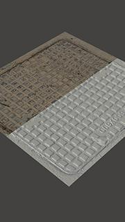 3D Scan of Manhole Cover #9