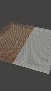 RAW 3D Scan of Manhole Cover #10