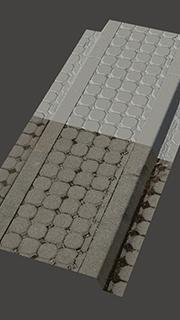 RAW 3D scan of traffic island #2