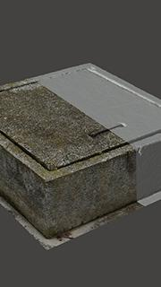 RAW 3D Scan of Manhole Cover #12