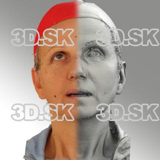 3D head scan of looking up emotion - Renata