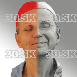 3D head scan of sneer emotion left - Renata