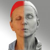 3D head scan of U phoneme - Renata