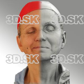 3D head scan of sneer emotion right - Renata