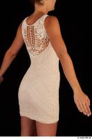 Upper body white dress of Little Caprice 0008