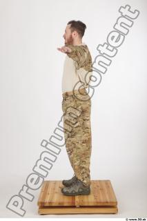 Soldier in American Army Military Uniform 0004