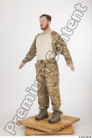 Soldier in American Army Military Uniform 0003