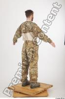 Soldier in American Army Military Uniform 0008
