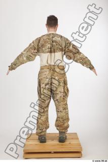 Soldier in American Army Military Uniform 0007